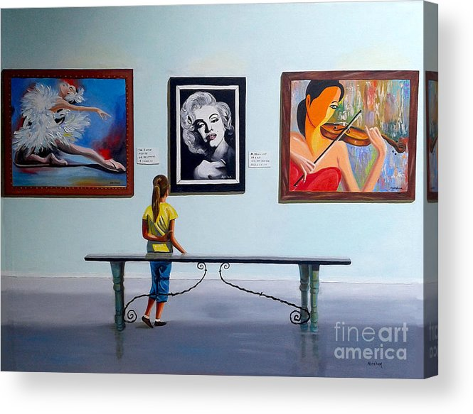 Dancing Acrylic Print featuring the painting I want to be by Jose Manuel Abraham