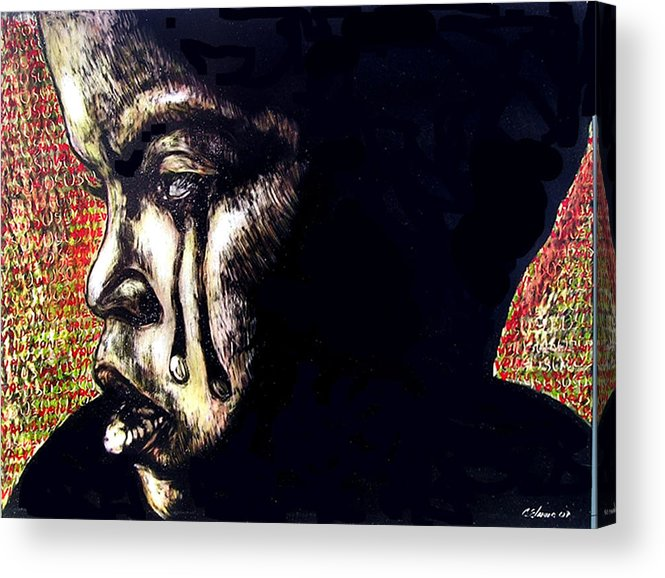 Acrylic Print featuring the mixed media 1140 by Chester Elmore