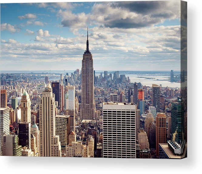 Ny Acrylic Print featuring the photograph NYC Empire by Nina Papiorek