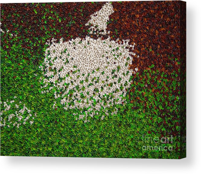 Abstract Acrylic Print featuring the painting Soft Green with Brown, Buff and White by Dean Triolo