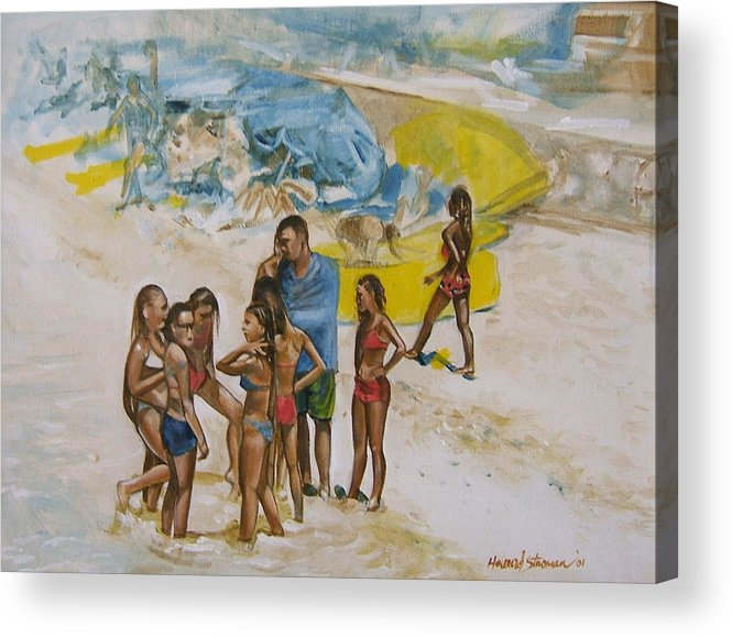 On The Beach Acrylic Print featuring the painting Untitled 5 by Howard Stroman