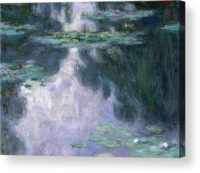 Nympheas Acrylic Print featuring the painting Waterlilies by Claude Monet