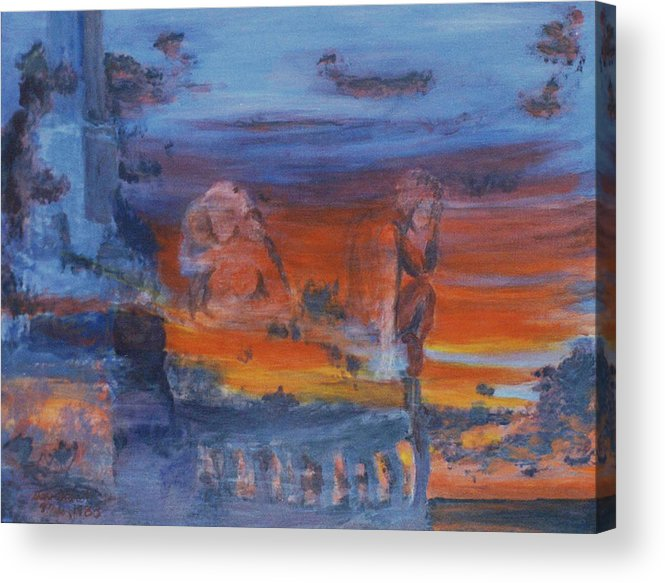 Abstract Acrylic Print featuring the painting A Mystery Of Gods by Steve Karol