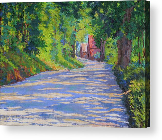 Landscape Acrylic Print featuring the painting A Summer Road by Keith Burgess