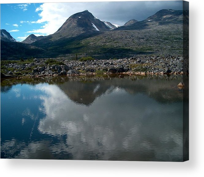 Whitehorse Acrylic Print featuring the photograph Along the Whitehorse Trail by Janet Hall