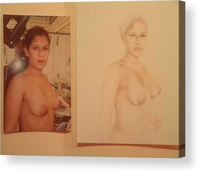 Nudes Acrylic Print featuring the painting Anna by Benito Alonso