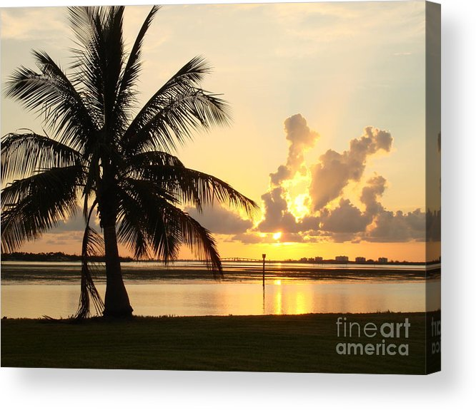 Sunset Acrylic Print featuring the photograph Another day in Paridise by Robyn Leakey