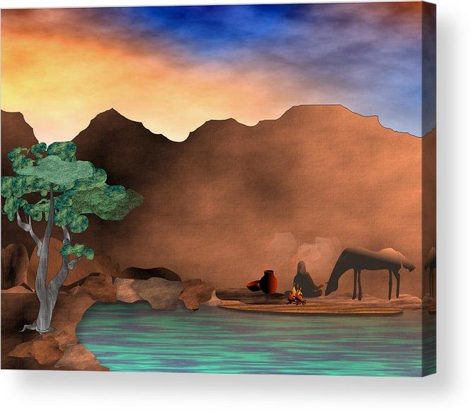 Arizona Acrylic Print featuring the digital art Arizona Sky by Arline Wagner