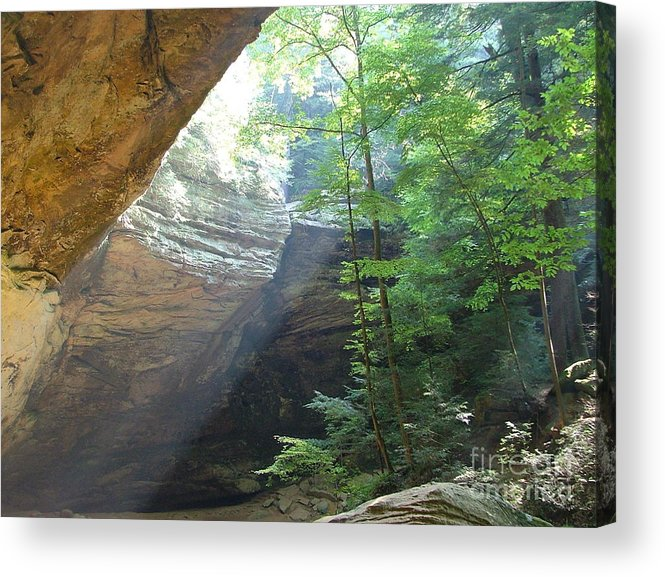Photograph Acrylic Print featuring the photograph Ash Cave by Mindy Newman