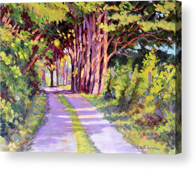 Road Acrylic Print featuring the painting Backroad Canopy by Keith Burgess