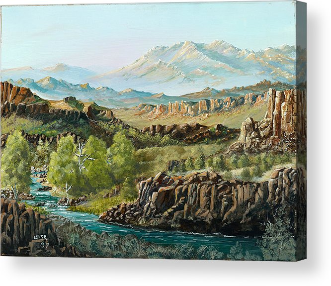 Desert River Acrylic Print featuring the painting Big Sandy River by John Wise