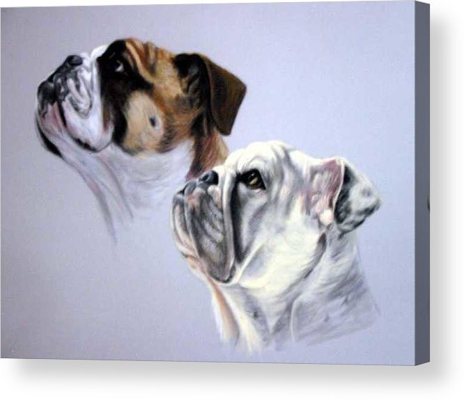 Acrylic Print featuring the painting Bouderaux and Gertrude by Anne Kushnick