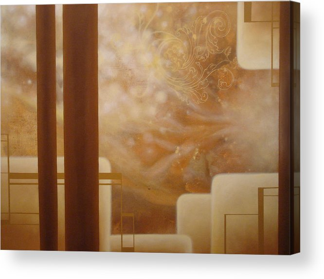 Brown Acrylic Print featuring the painting Brown Sugar Makes it Better by Monica James