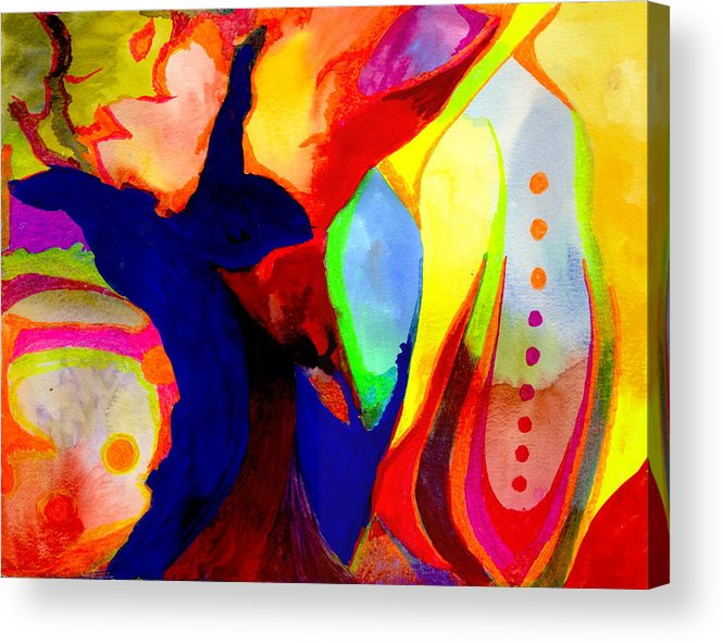 Watercolor Acrylic Print featuring the painting Cancun 14 by Peter Shor