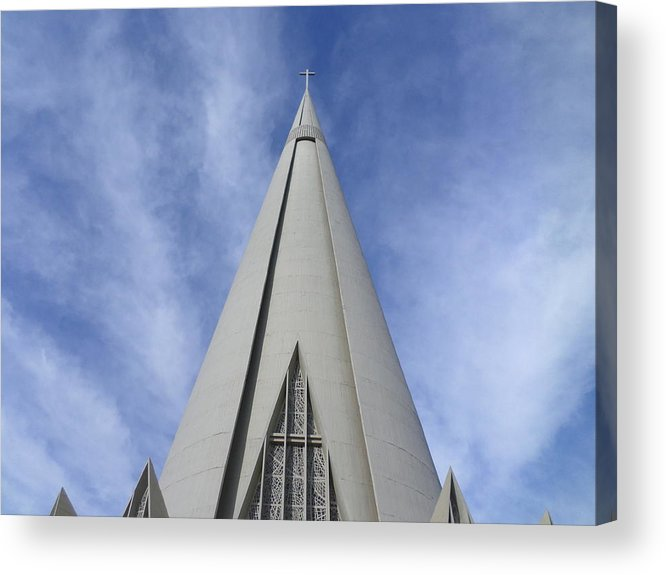 Cathedral Acrylic Print featuring the photograph Cathedral Minor Basilica Our Lady of Glory by Bruna Lima