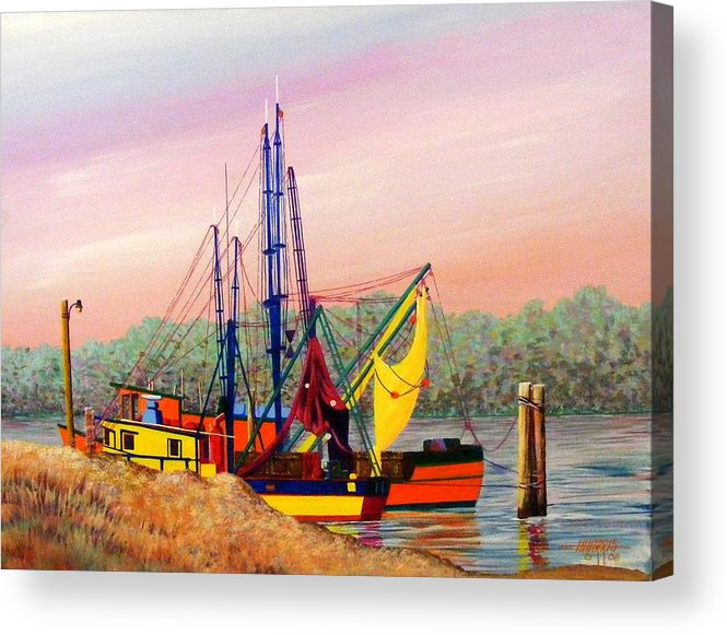 Landscape Acrylic Print featuring the painting Colorful Tribute by Hugh Harris