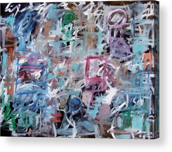 Abstract Acrylic Print featuring the painting Composition No. 1 by Michael Henderson