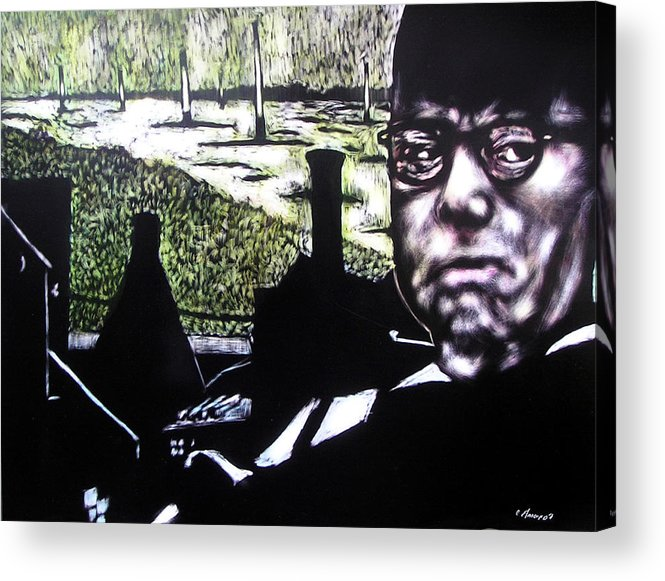 Acrylic Print featuring the mixed media Corporate Ambition by Chester Elmore