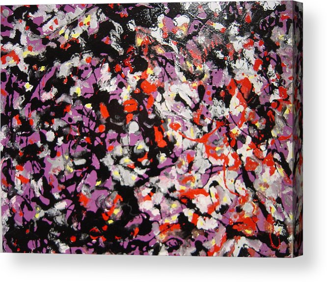 Acrylic Print featuring the painting Crowd by Biagio Civale