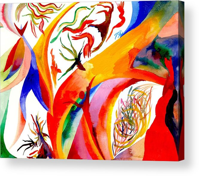 Shaman Acrylic Print featuring the painting Dance Of Shaman by Peter Shor