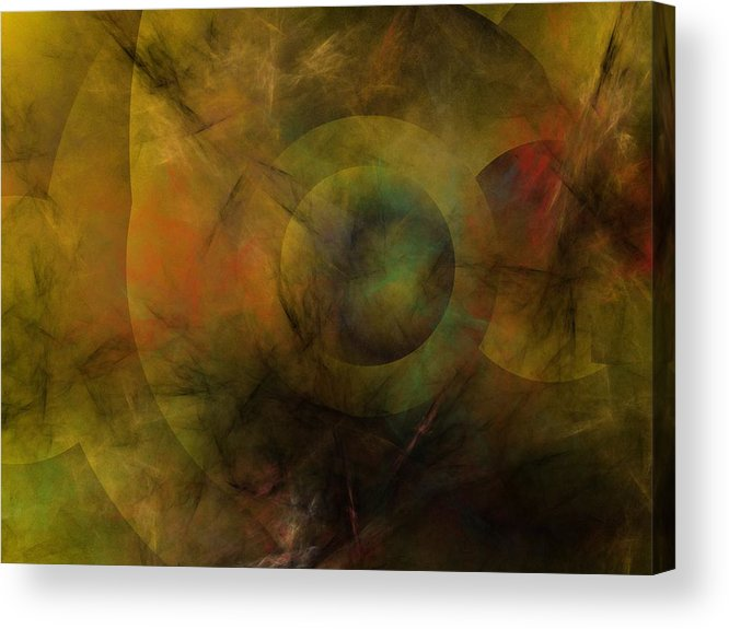 Fantasy Acrylic Print featuring the digital art Dance of the Spheres by David Lane