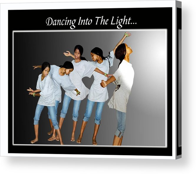 Photo Acrylic Print featuring the photograph Dancing Into The Light by Richard Gordon