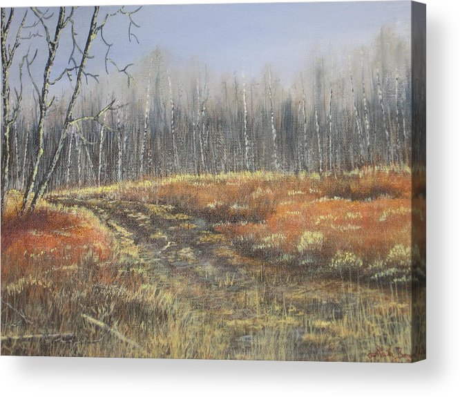 Landscape Acrylic Print featuring the painting Days Gone by by Sheila Banga