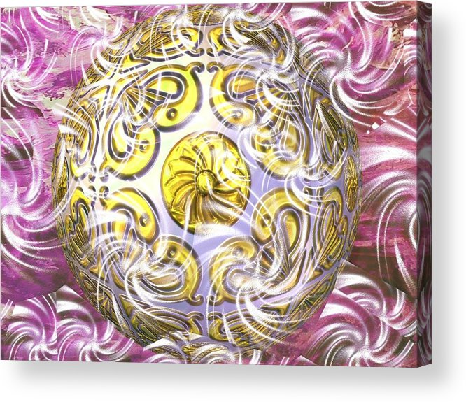 Abstract Digital Art Acrylic Print featuring the photograph Digital Ball by Guillermo Mason