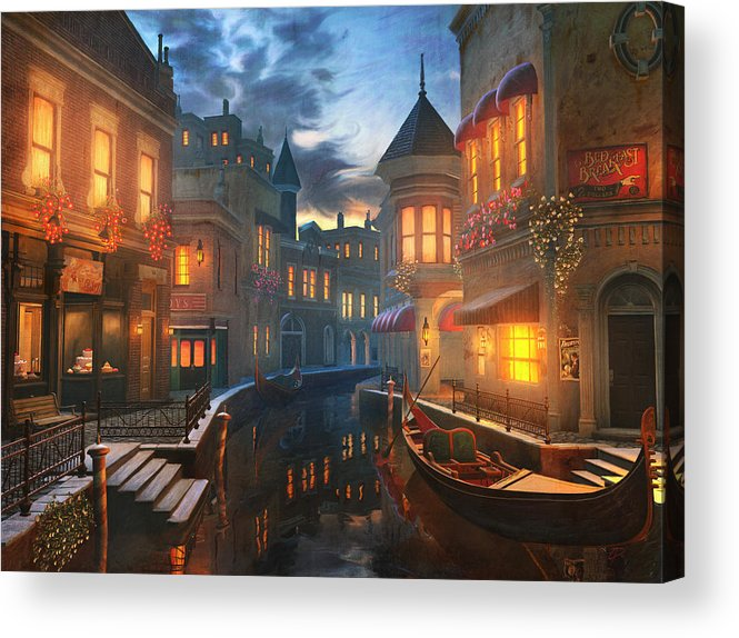 Venice Acrylic Print featuring the painting Enchanted Waters by Joel Payne