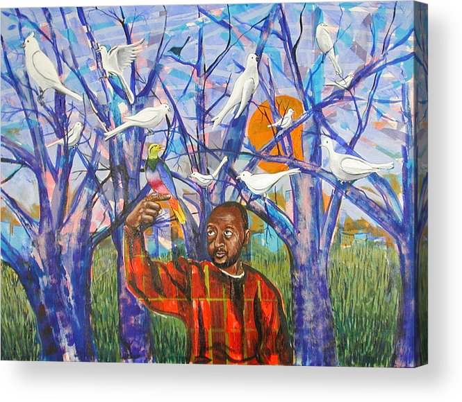 Black Acrylic Print featuring the painting Epiphany by Rollin Kocsis