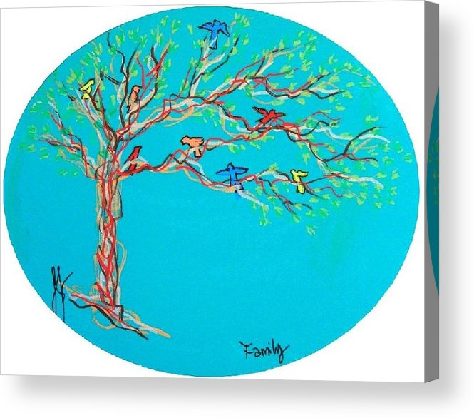 Tree Acrylic Print featuring the painting Family by Jim Harris