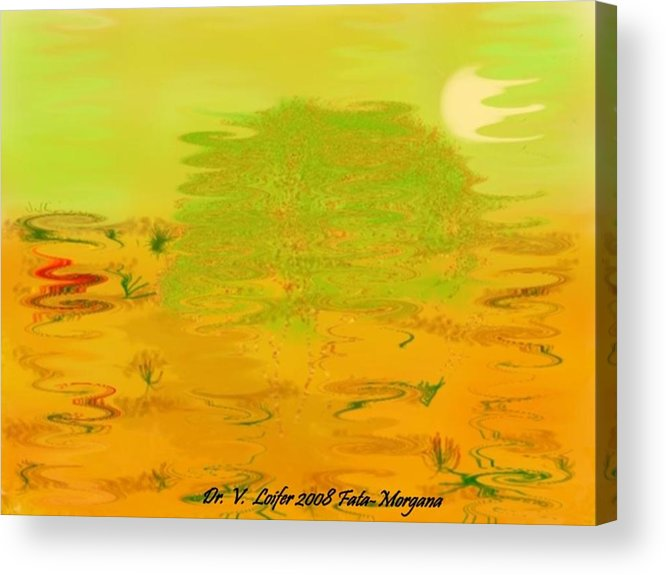 Illusions Acrylic Print featuring the digital art Fata-morgana by Dr Loifer Vladimir