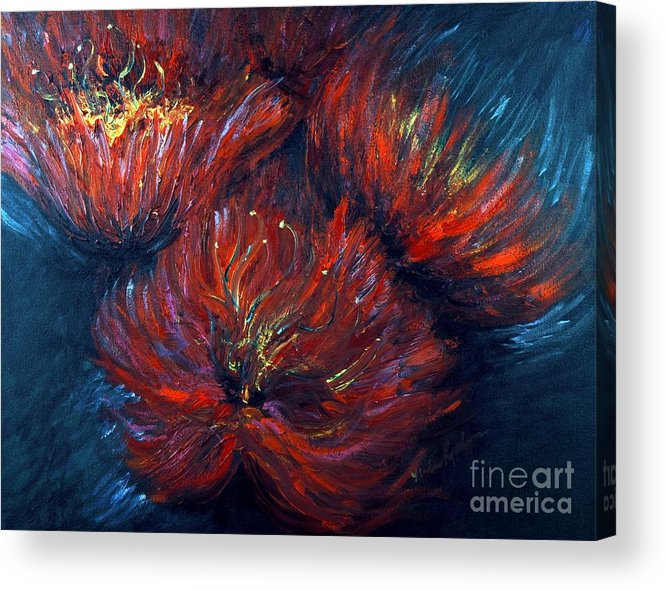 Abstract Acrylic Print featuring the painting Fellowship by Nadine Rippelmeyer