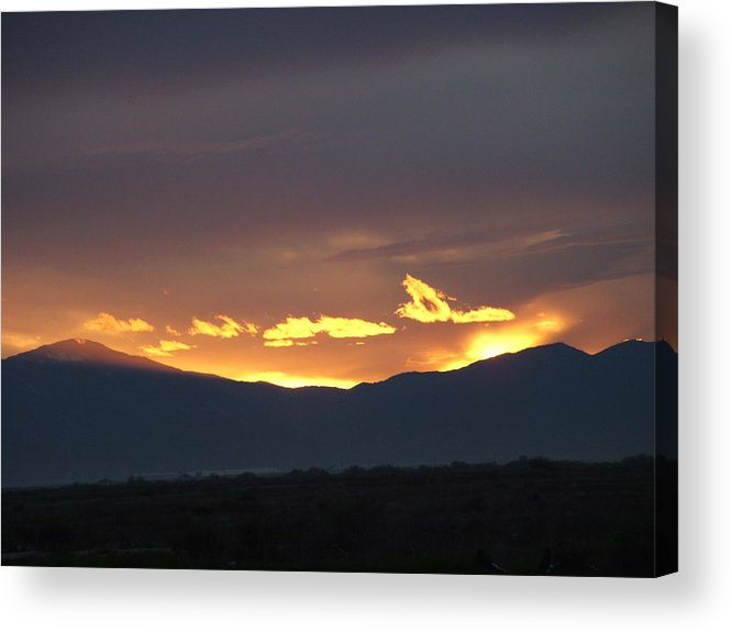 Sunset Acrylic Print featuring the photograph Fire In The Sky by Shari Chavira