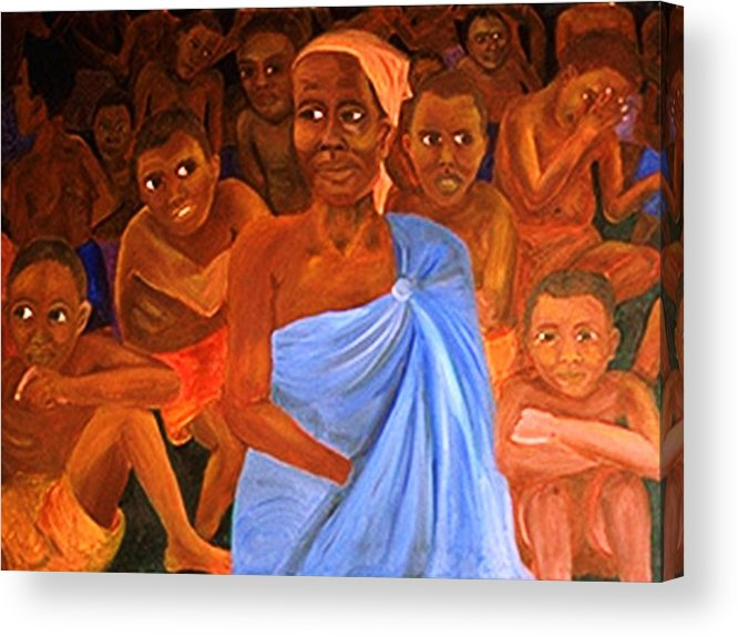 Portrait Acrylic Print featuring the painting For Sale by Alima Newton