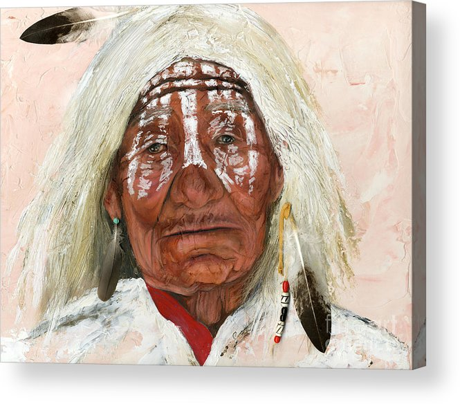 Southwest Art Acrylic Print featuring the painting Ghost Shaman by J W Baker