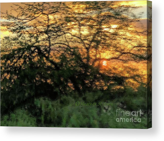 Sunset Acrylic Print featuring the photograph Glass Sunset Hawaii by Heather Coen