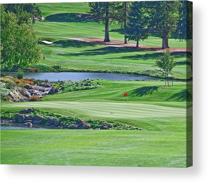 Golf Acrylic Print featuring the photograph Golf Course by Liz Santie