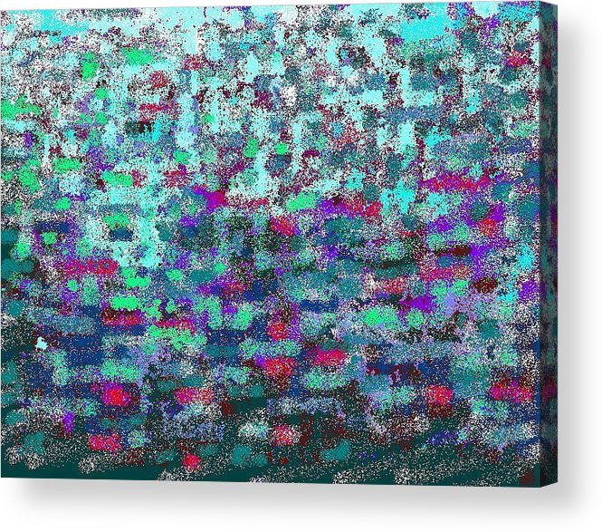 Color Harmony Acrylic Print featuring the digital art Green by Beebe Barksdale-Bruner