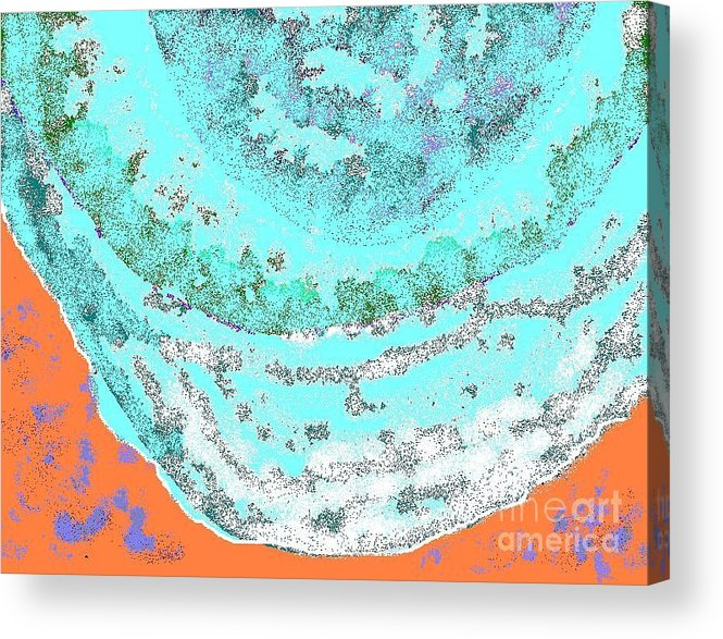Vacation Acrylic Print featuring the digital art Hawaii Beach by Beebe Barksdale-Bruner