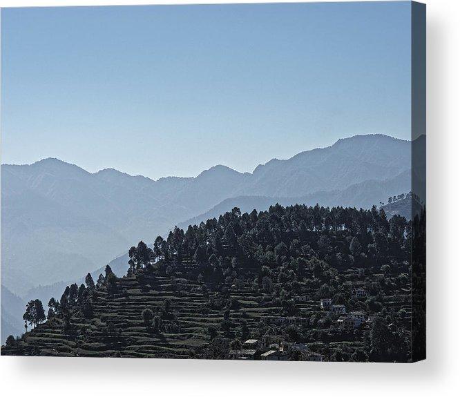 Landscape Acrylic Print featuring the photograph Hills Near Almora, Uttarakhand 2010 by Chris Honeyman