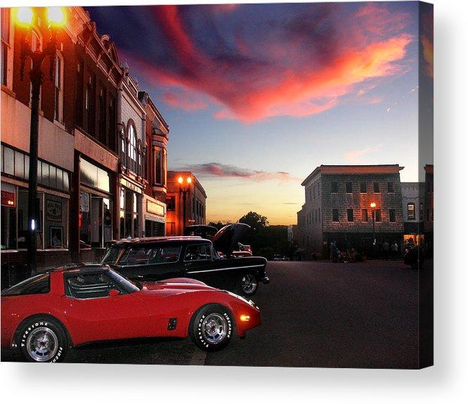 Car Acrylic Print featuring the photograph Hot Night by Steve Karol