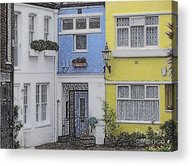 House Acrylic Print featuring the photograph Houses by Amanda Barcon