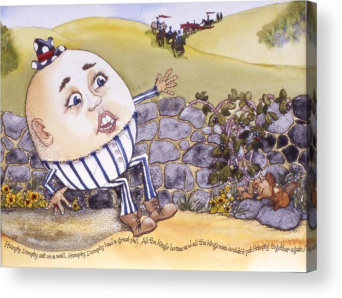 Humpty Dumpty Acrylic Print featuring the painting Humpty Dumpty by Victoria Heryet