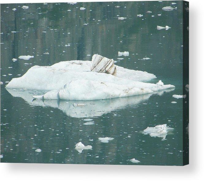 Ice Acrylic Print featuring the digital art Ice Floe by George Pasini