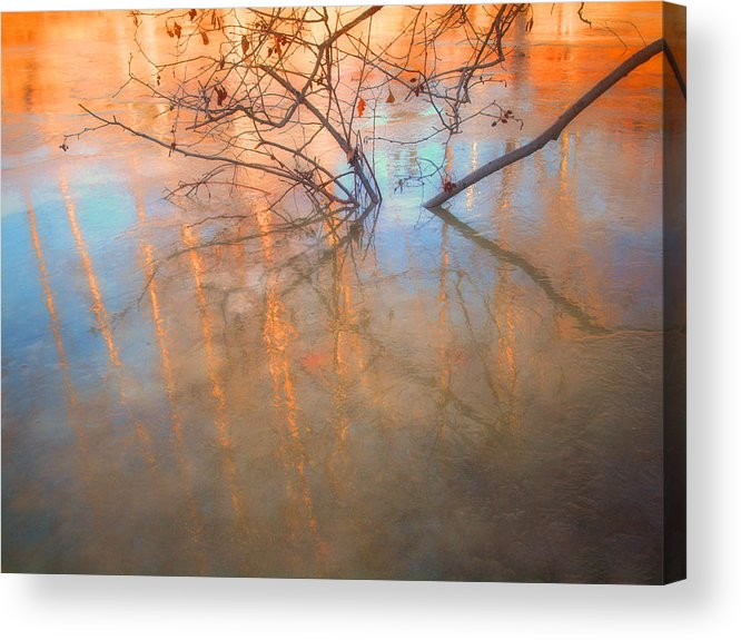 Ice Acrylic Print featuring the photograph Ice Reflections 2 by Tara Turner