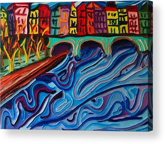Acrylic Print featuring the painting In Seine by Ira Stark