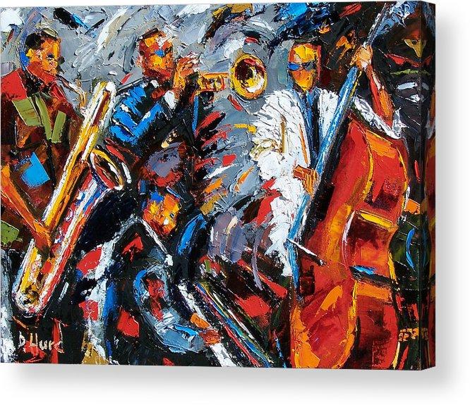Jazz Acrylic Print featuring the painting Jazz Unit by Debra Hurd