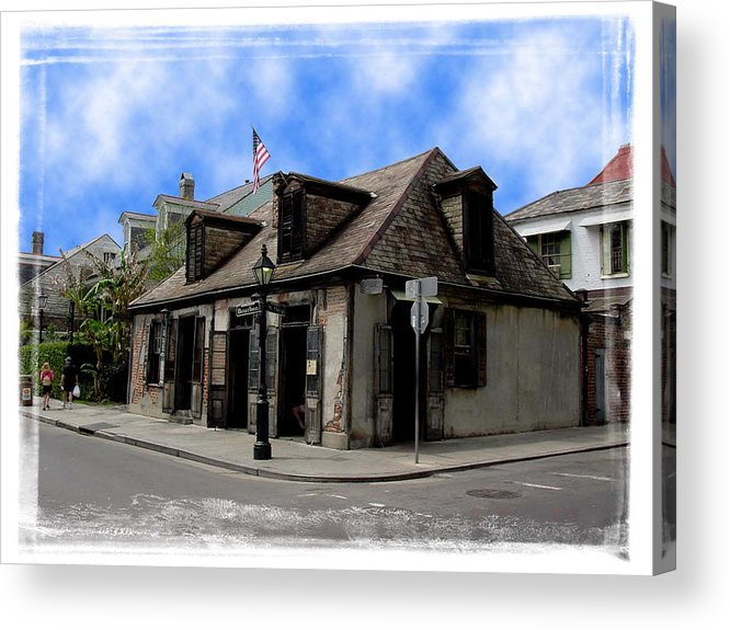 New Orleans Acrylic Print featuring the photograph Jean Lafitte The Blacksmith by Linda Kish