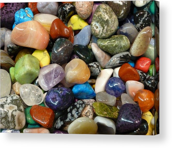 Stones Acrylic Print featuring the photograph Just Stoned by Florene Welebny